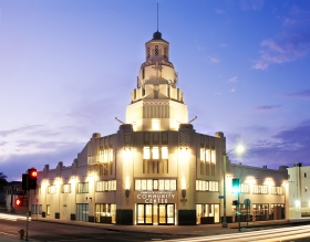 The 28,000-square-foot Church of Scientology Community Center is located on the Vermont Avenue corridor in South Los Angeles. Originally built in the early 1930s the Church meticulously restored the historic art deco landmark.