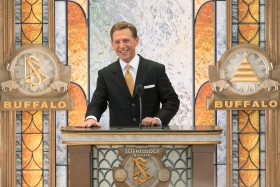 Mr. David Miscavige, Chairman of the Board Religious Technology Center and ecclesiastical leader of the Scientology religion, led the dedication with local Church officials.
