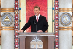 Mr. David Miscavige, Chairman of the Board Religious Technology Center and ecclesiastical leader of the Scientology religion, dedicated Greater Cincinnati's new Church of Scientology.