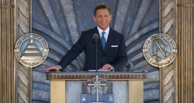 Mr. David Miscavige, Chairman of the Board of Religious Technology Center and ecclesiastical leader of the Scientology religion, dedicated the new Church of Scientology of Los Angeles on April 24, 2010, with city, county and state government officials and 6,000 Scientologists and their guests in attendance.