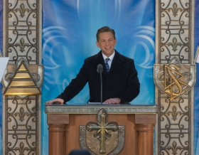 Mr. David Miscavige, Chairman of the Board of Religious Technology Center and ecclesiastical leader of the Scientology religion, dedicated the new Church of Scientology of Québec/Eglise de Scientologie de Québec.