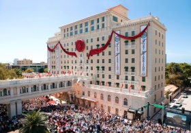 "The day was all the more historic given Chairman of the Board Religious Technology Center, Mr. David Miscavige, delivered the keynote address and cut the ribbon, marking a new era for the ""jewel of Clearwater."""