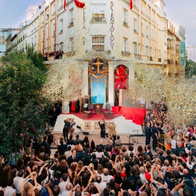 The ribbon cutting in Madrid's Neighborhood of Letters marked a new era for religious freedom in Spain, with dignitaries from law, religion and human rights proclaiming Scientology as the hope for their country.